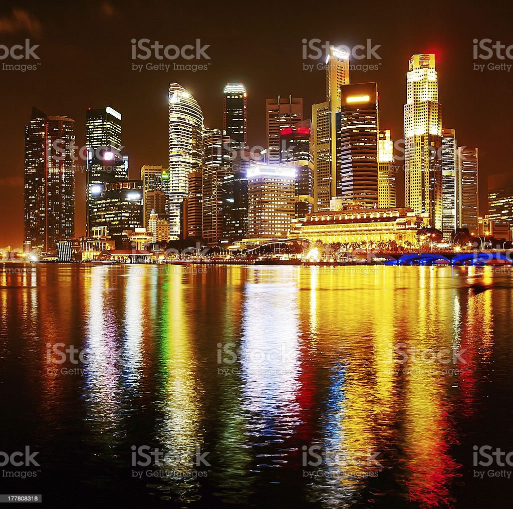 Colorful Singapore royalty-free stock photo