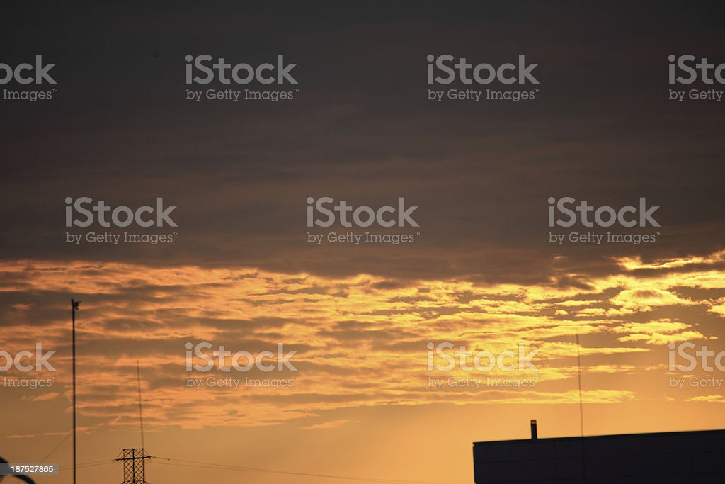 Colorful sky at sunset royalty-free stock photo