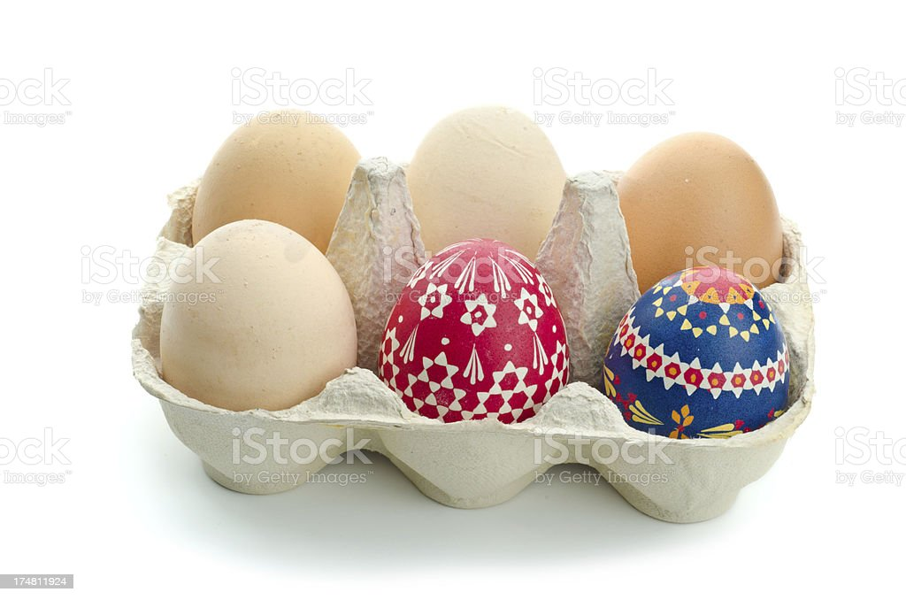 colorful sorbian easter eggs stock photo