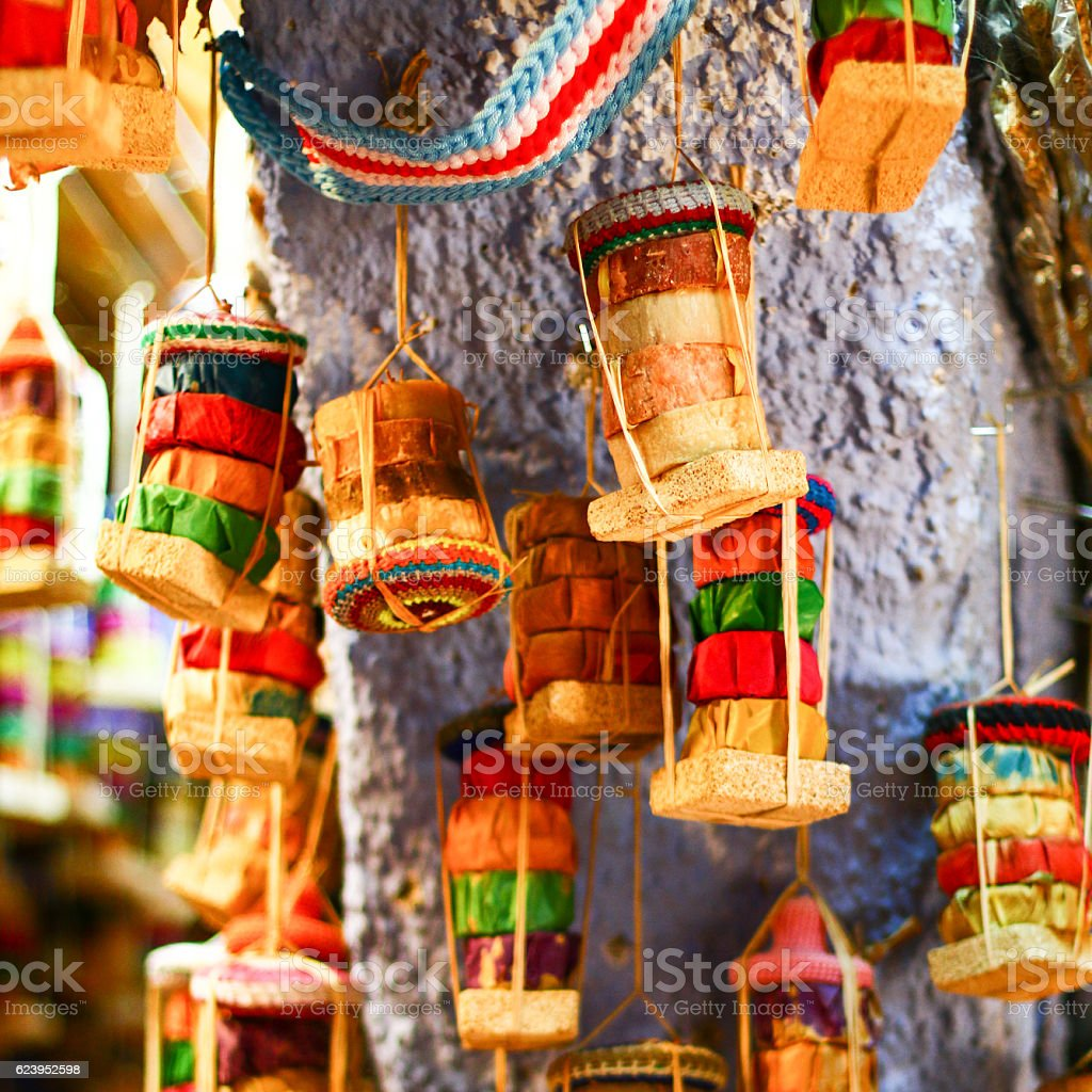 Colorful sovenir from vacation stock photo