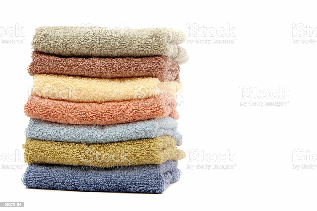 Colorful spa towels royalty-free stock photo