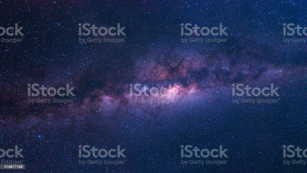 Colorful space shot of milky way galaxy stock photo