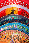 Colorful spanish fans in Andalusia