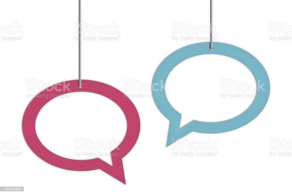 Colorful Speech Bubbles stock photo