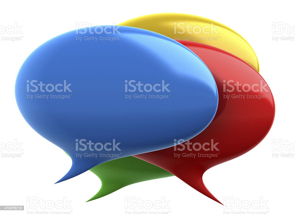 Colorful Speech bubbles stock photo