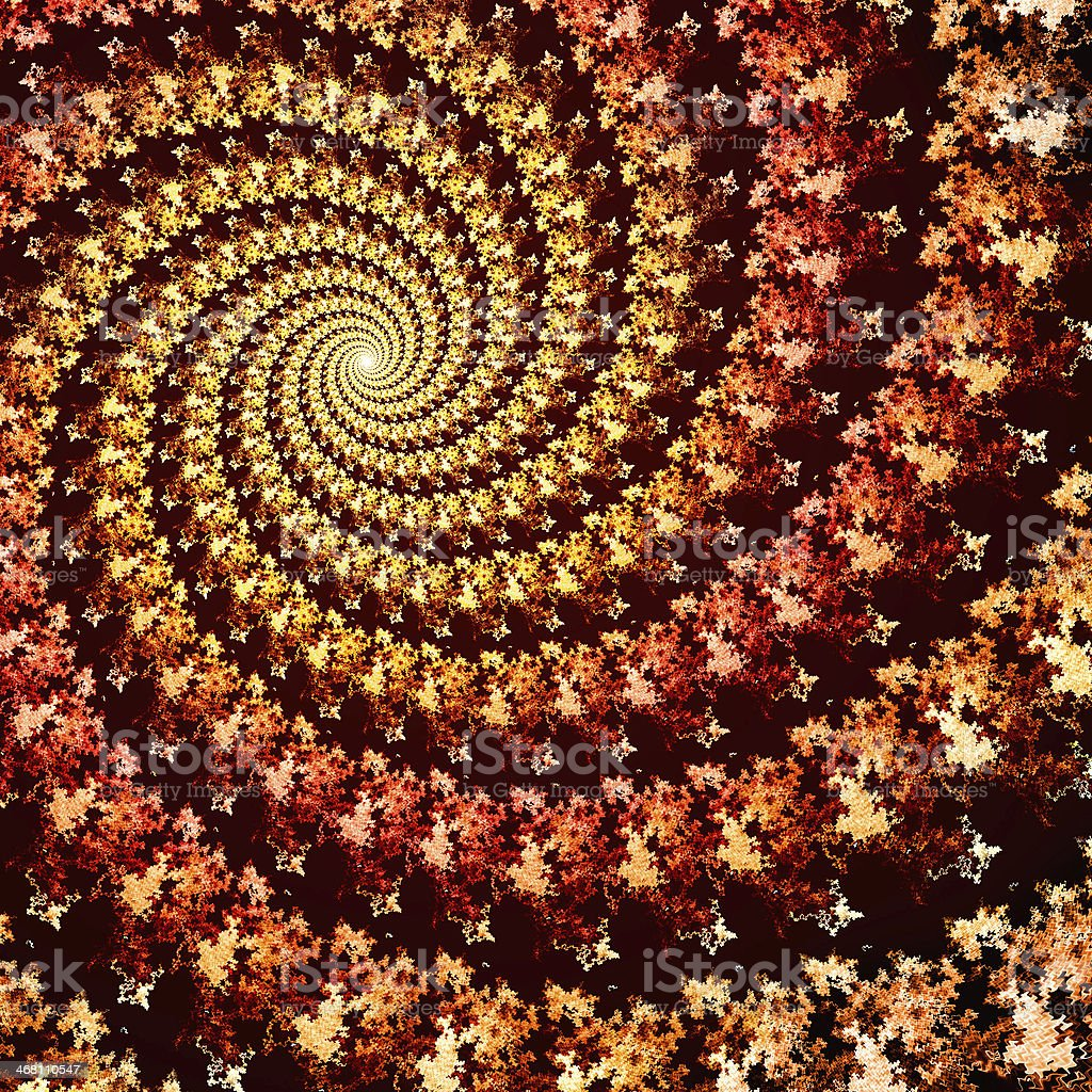 Colorful spiral fractal royalty-free stock photo