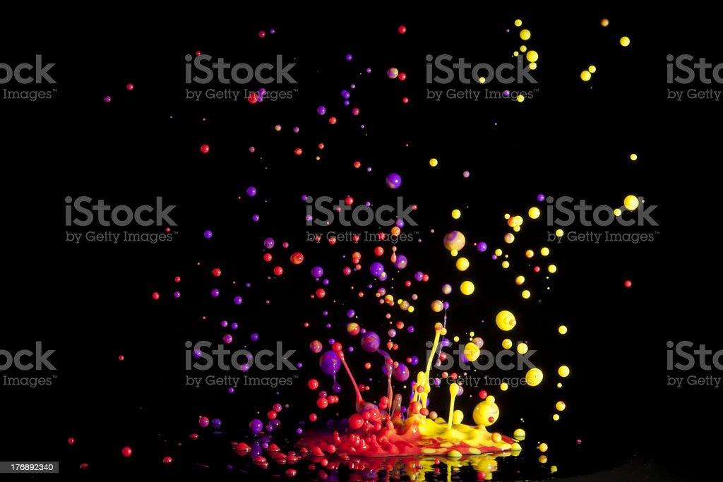 Colorful Splash of Paint royalty-free stock photo