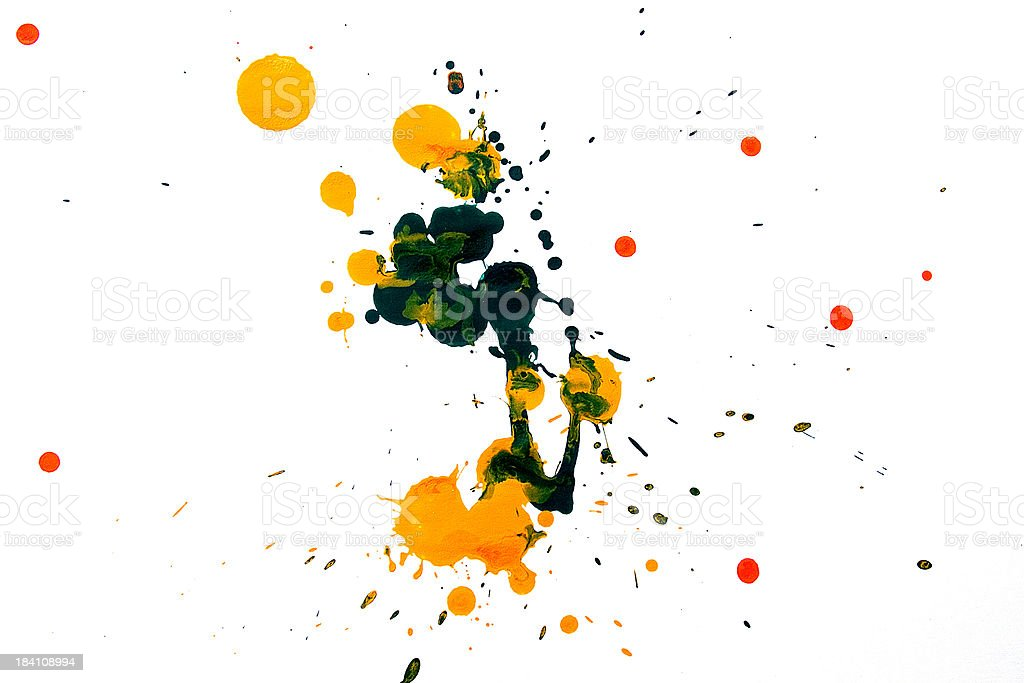 Colorful Splash Paint royalty-free stock photo