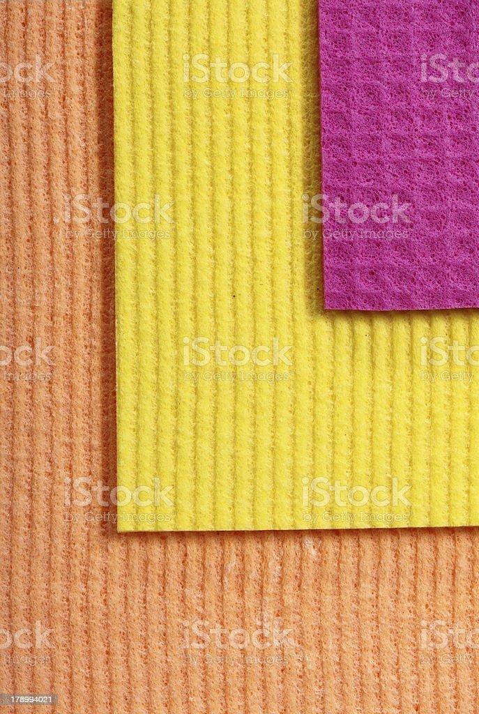 Colorful sponge foam as background texture stock photo