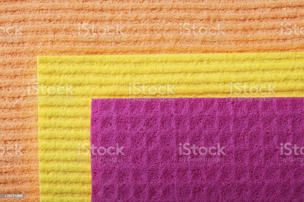 Colorful sponge foam as background texture royalty-free stock photo