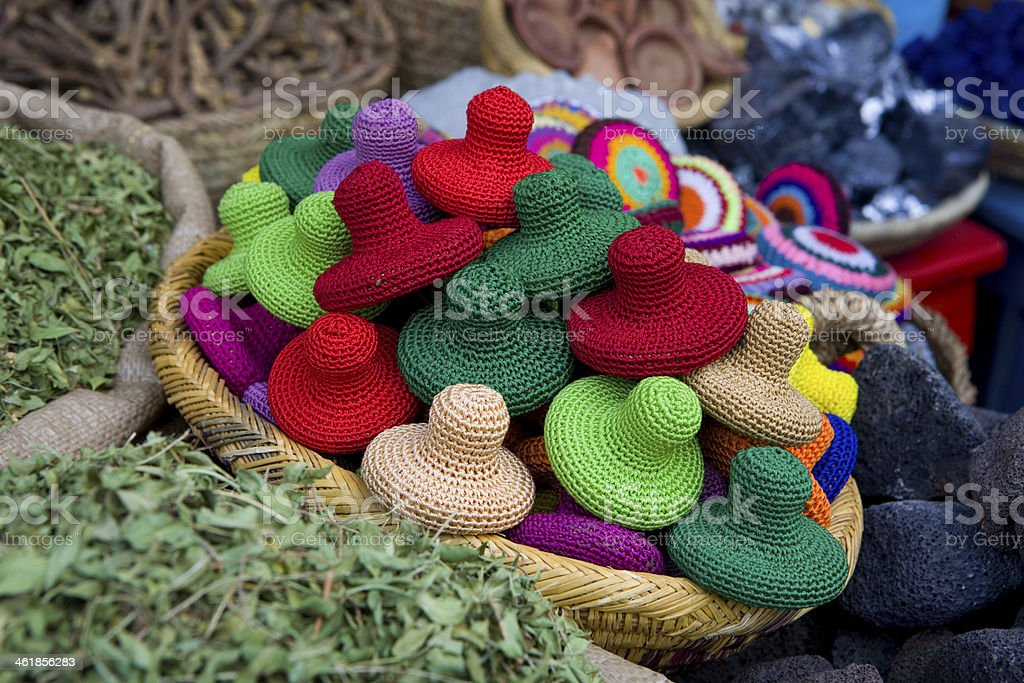 Colorful sponges for exfoliate. stock photo