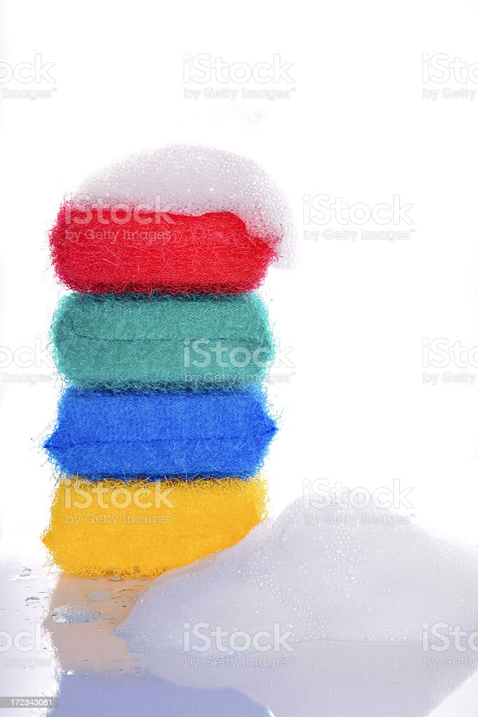 Colorful Sponges royalty-free stock photo