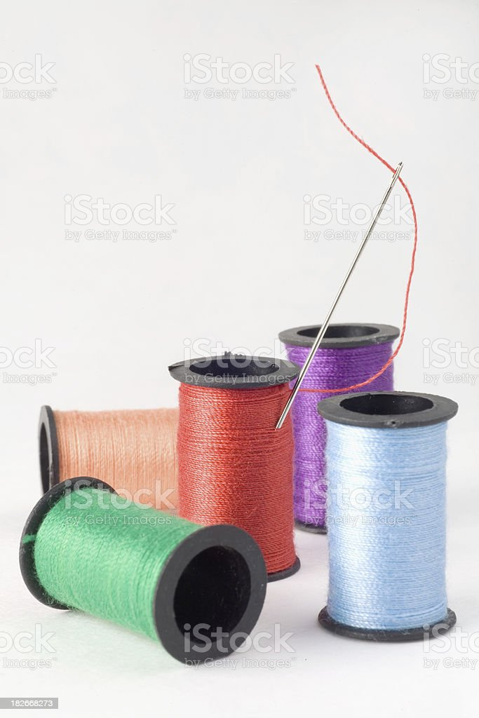 Colorful Spools of Thread royalty-free stock photo