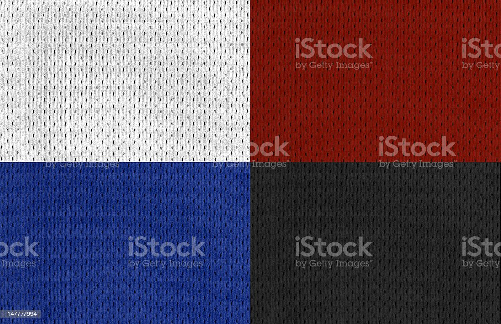 Colorful Sports Jersey textures (Extra Large) royalty-free stock photo