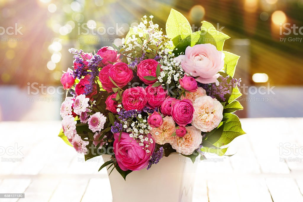 Colorful spring bouquet stock photo