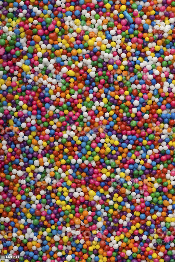Colorful sprinkles, jimmies for cake decoration or icecream topping stock photo