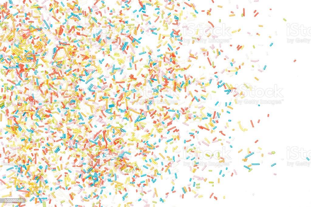 Colorful sprinkles stock photo