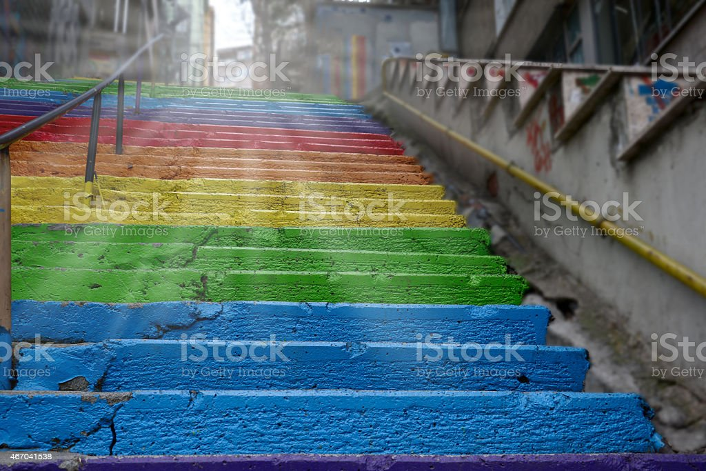 Colorful stairs stock photo