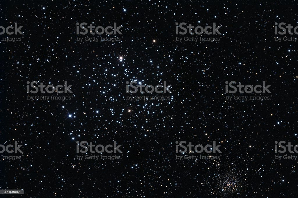 Colorful star cluster stock photo