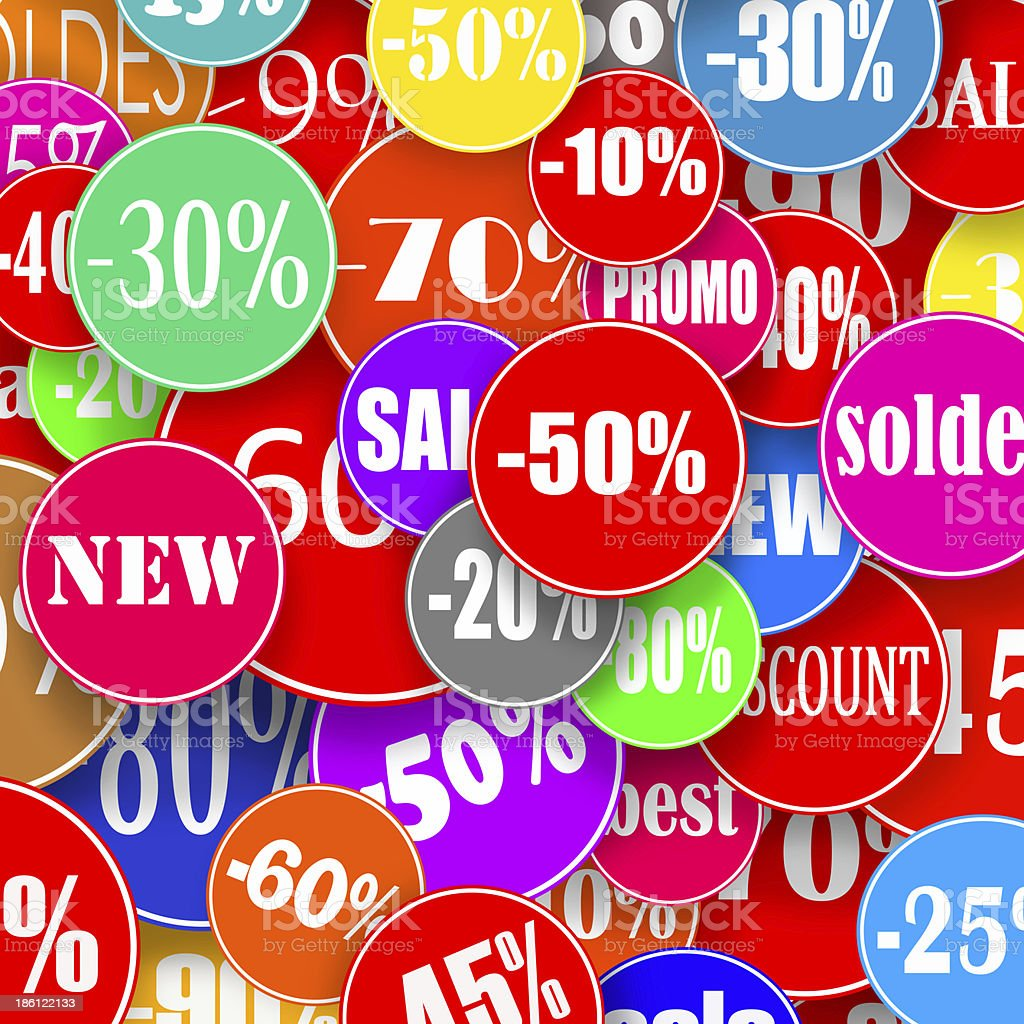 Colorful stickers royalty-free stock photo
