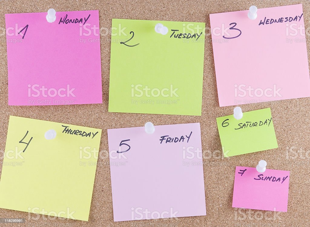 Colorful sticky notes stock photo