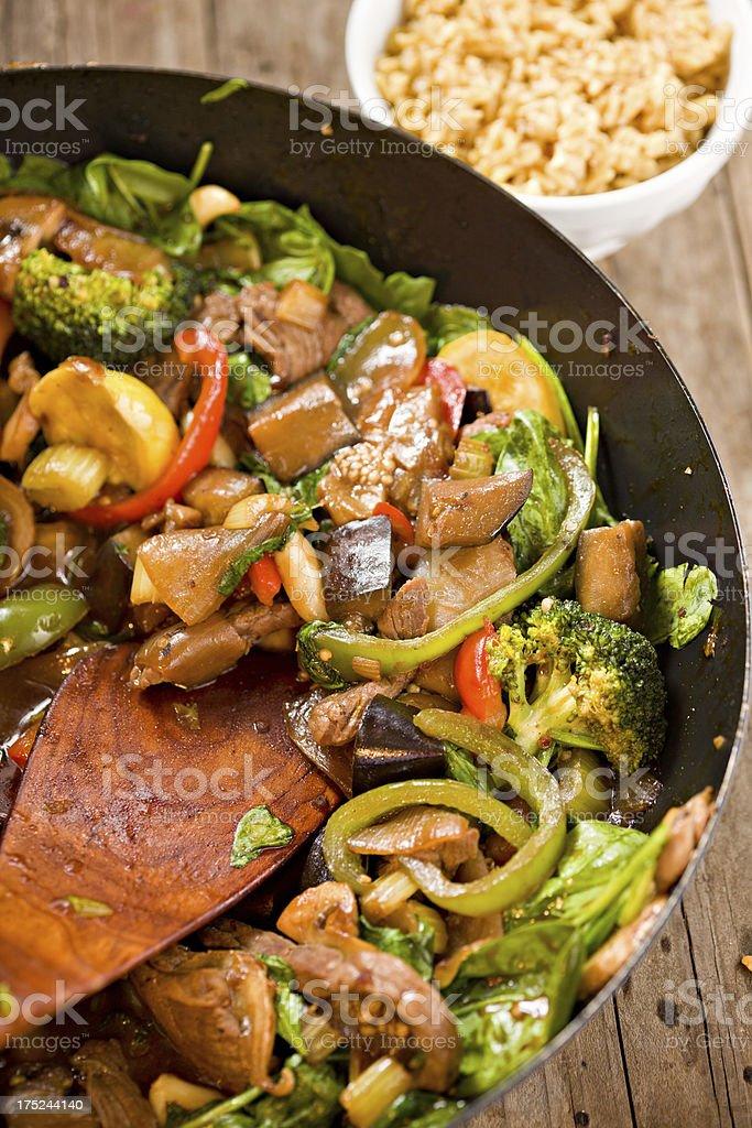 Colorful Stir Fry stock photo