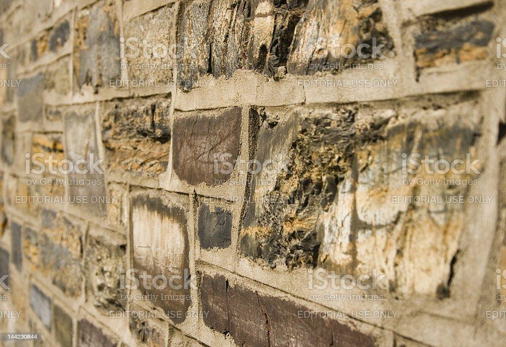 Colorful stone brick background stock photo