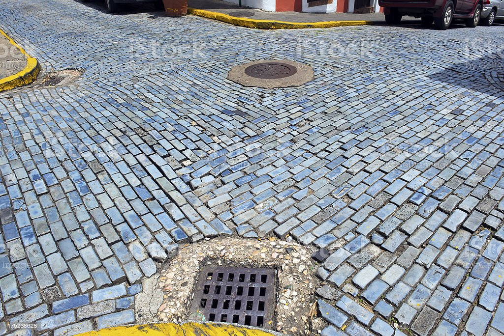 Intersection in Old San Juan royalty-free stock photo