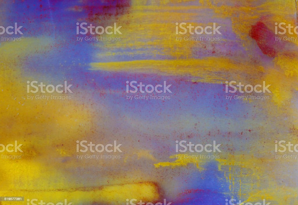 Colorful Stone Surface Showing Blue and Yellow Colors stock photo
