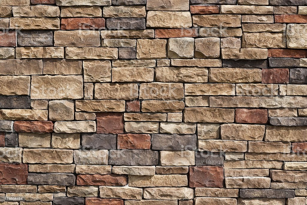 Colorful Stone Wall Background stock photo