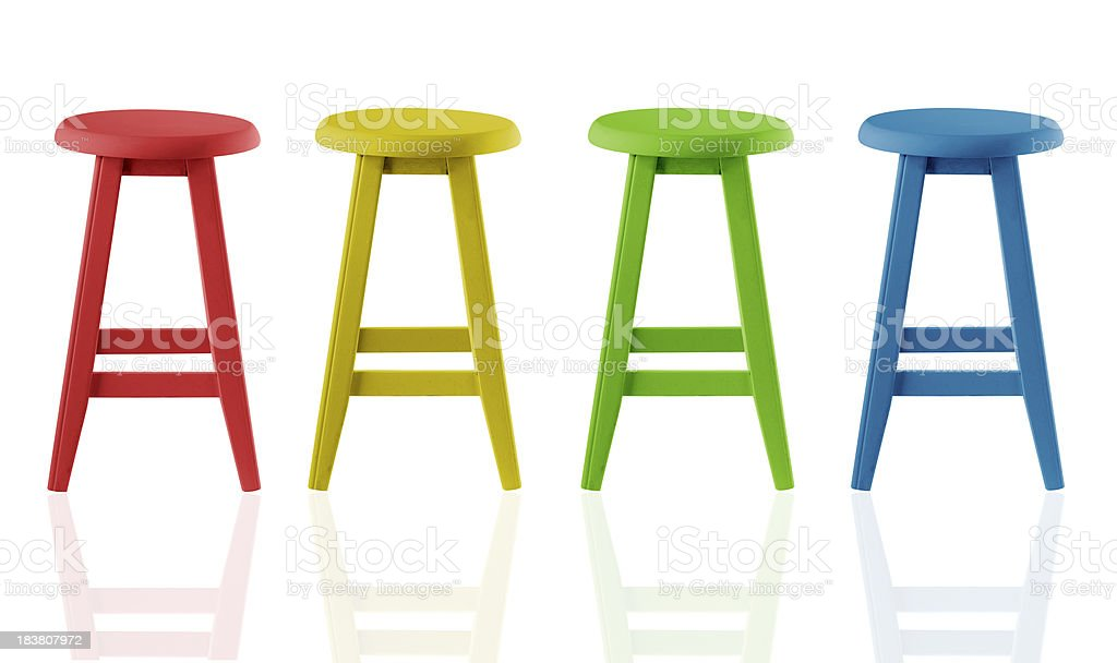 Colorful Stools royalty-free stock photo
