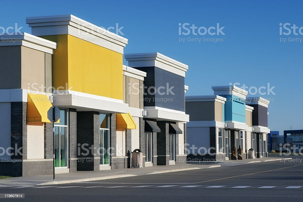 Colorful Store Building Exteriors royalty-free stock photo