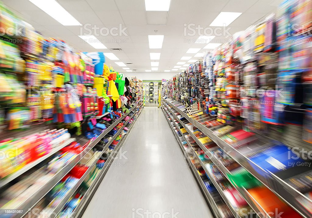 Colorful Store Shelves stock photo