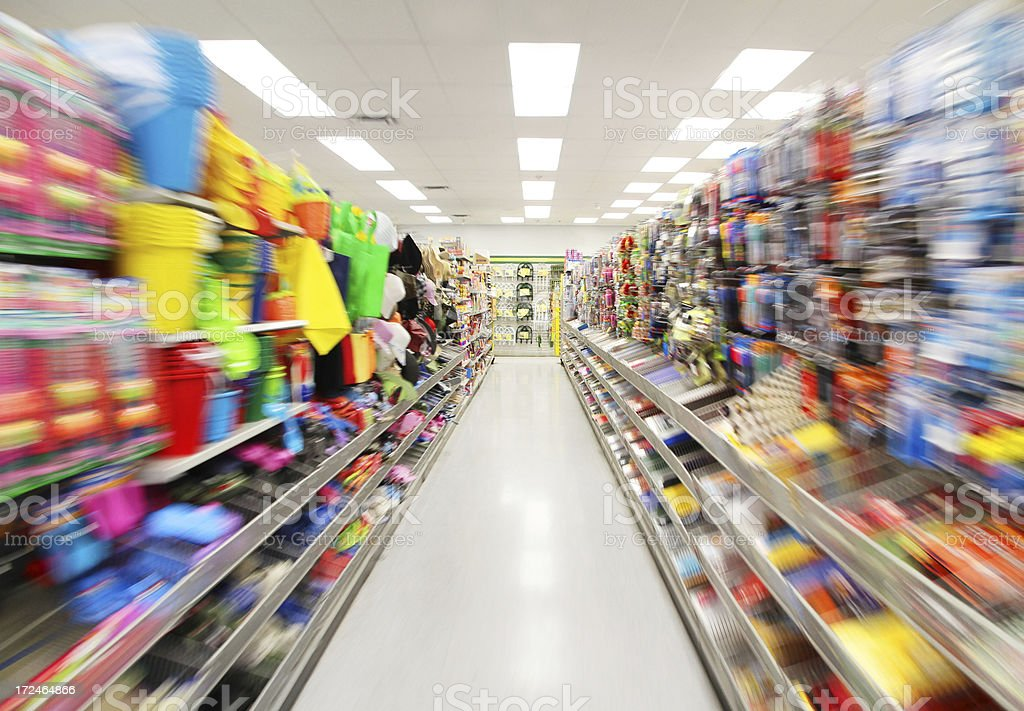 Colorful Store Shelves royalty-free stock photo
