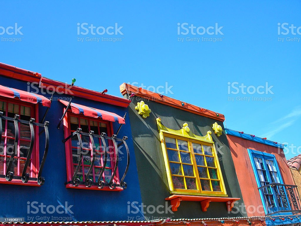 Colorful Stores royalty-free stock photo