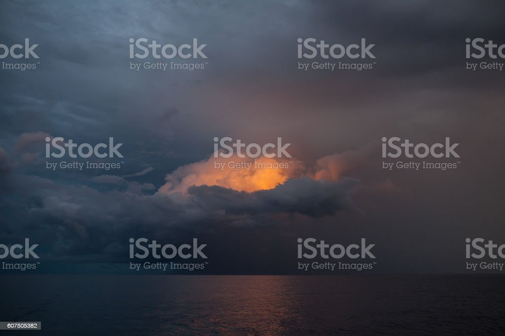Colorful Storm Clouds stock photo