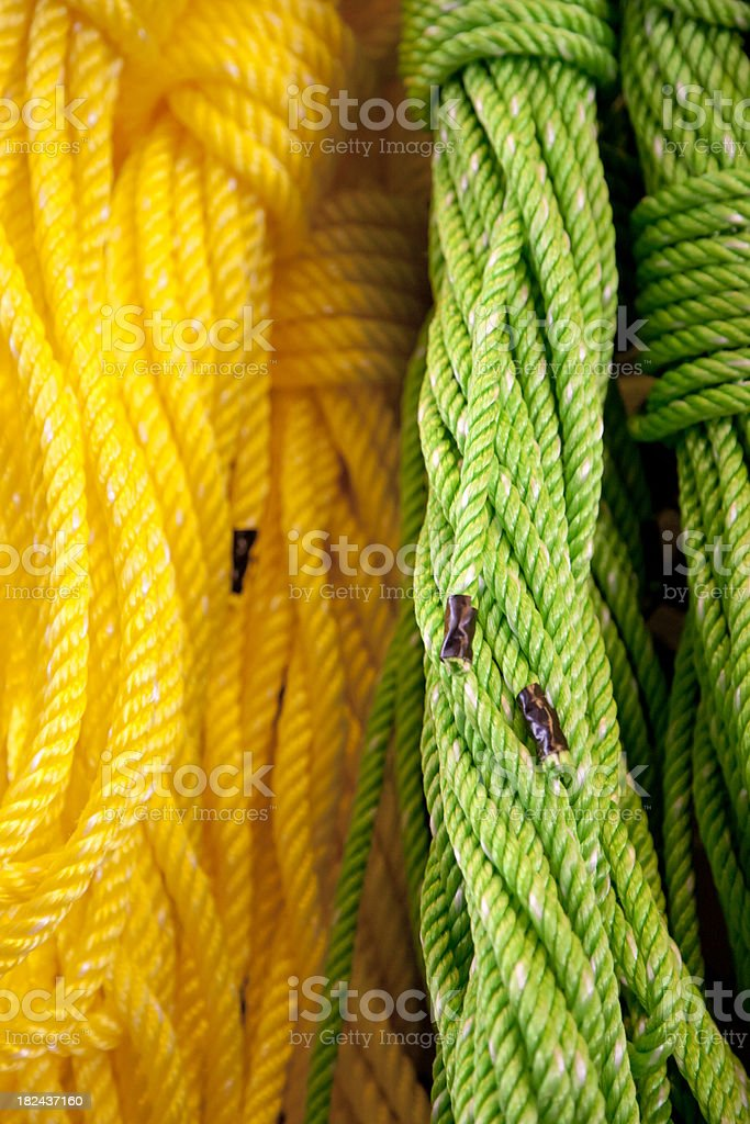 Colorful Stranded Marine Line, Rope, Retail, Background, Vertical stock photo