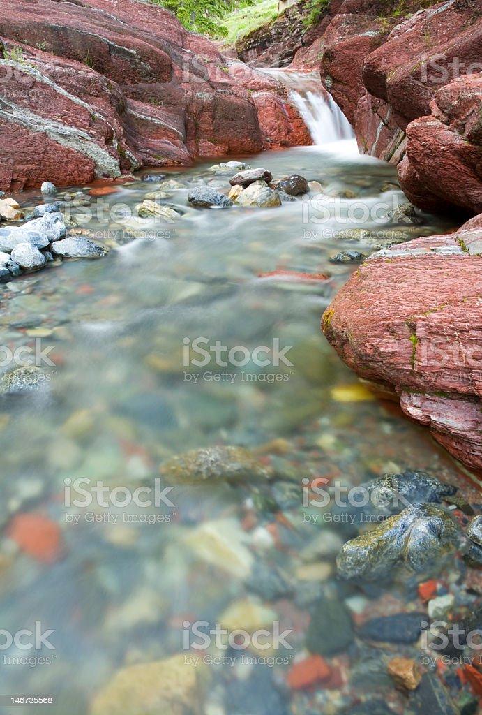 Colorful stream stock photo