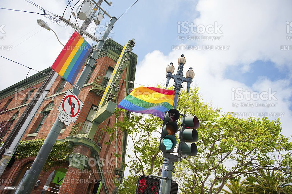 Colorful Street in San Francisco stock photo