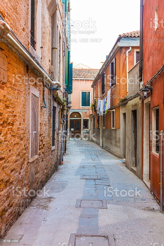 Colorful Streets of Venice stock photo