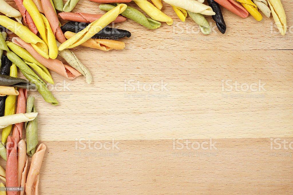 Colorful strozzapreti stock photo
