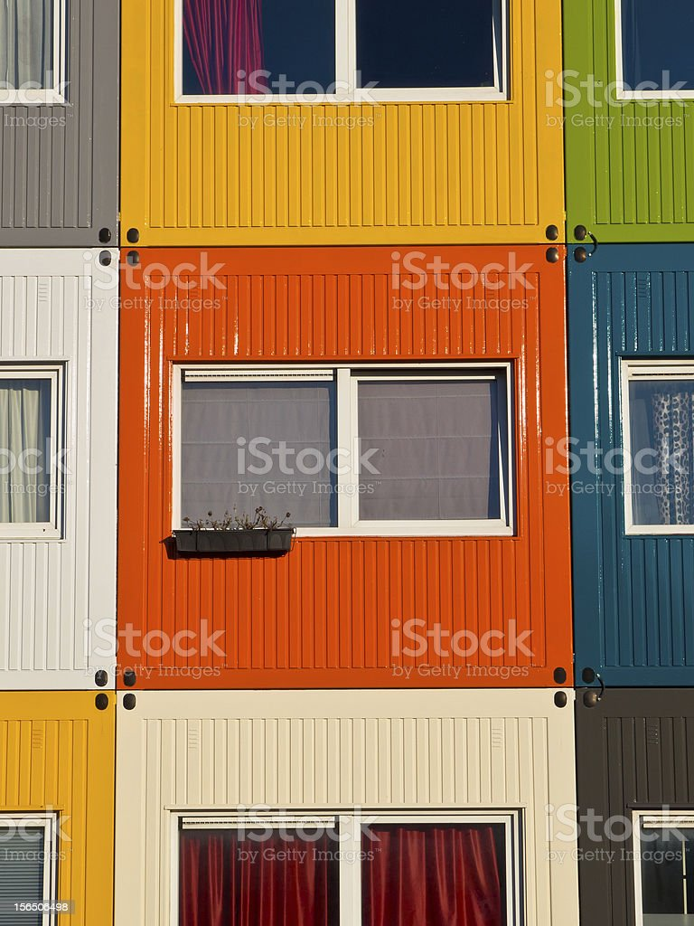 colorful student housing royalty-free stock photo