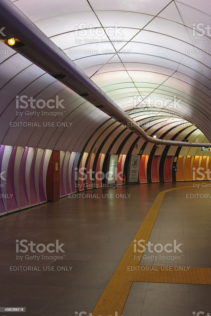 colorful subway station stock photo