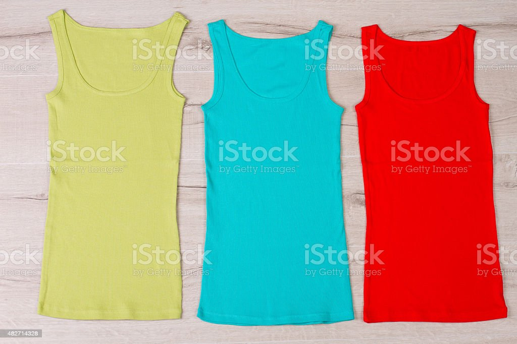 Colorful summer clothes. stock photo