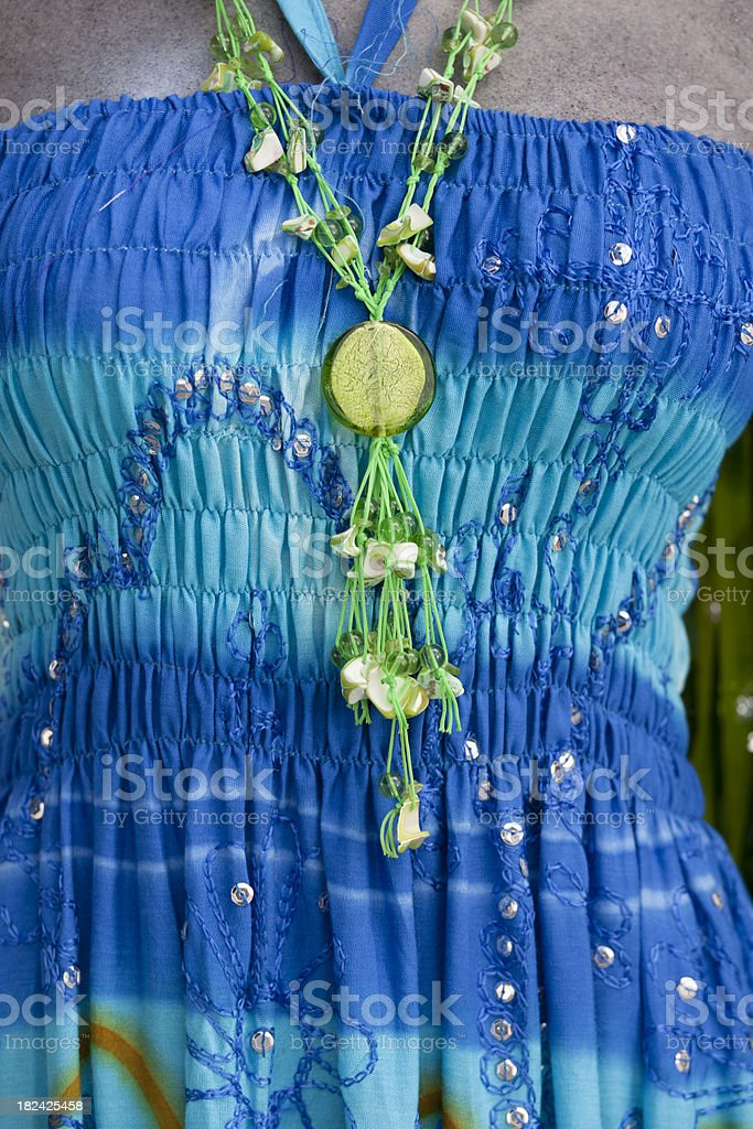 Colorful Summer Dress on Mannequin royalty-free stock photo