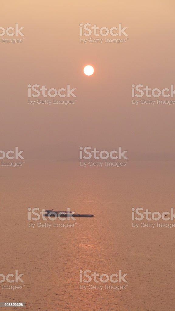 Colorful sunrise on hilton Head Island stock photo