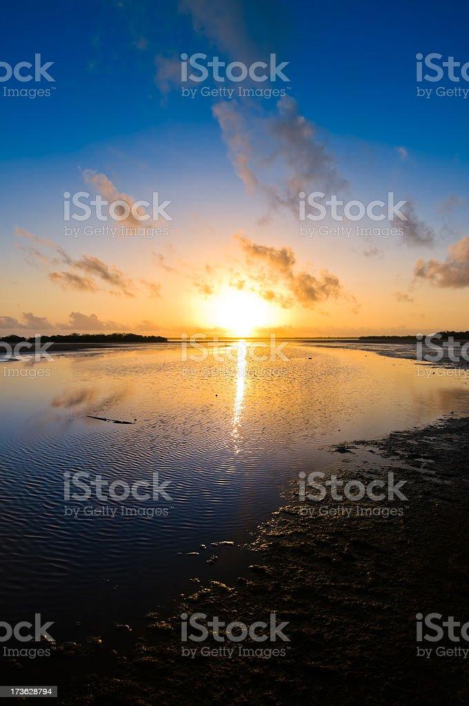 Colorful sunrise royalty-free stock photo