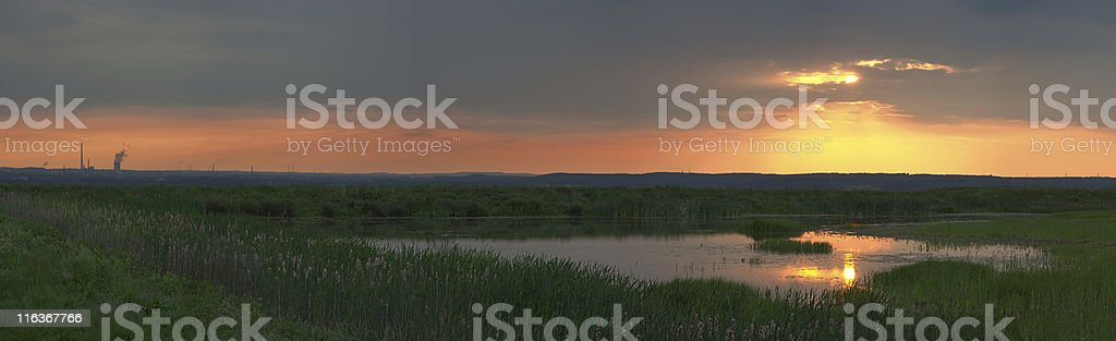 Colorful Sunset Panorama (XXL) royalty-free stock photo