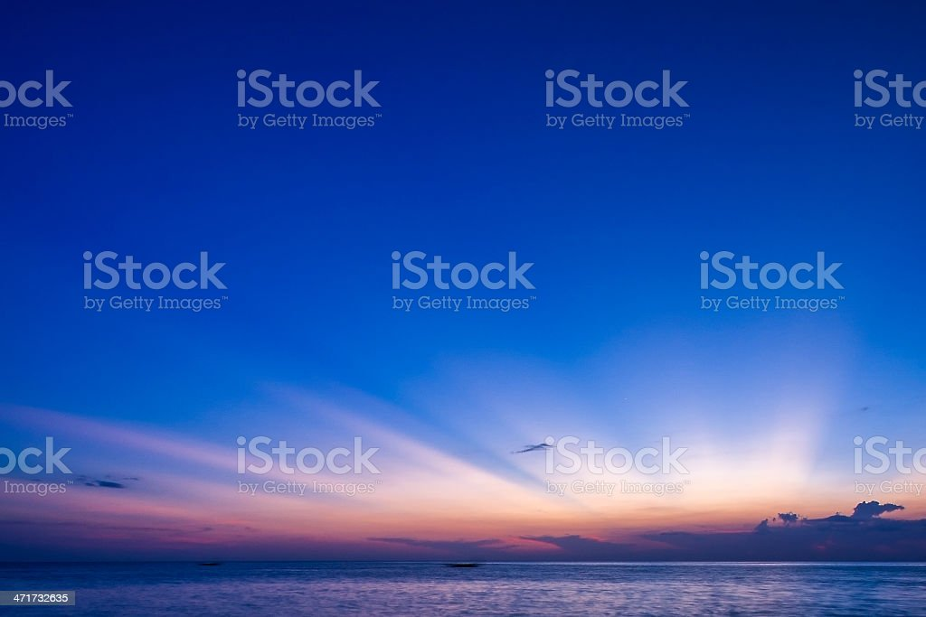 Colorful sunset stock photo