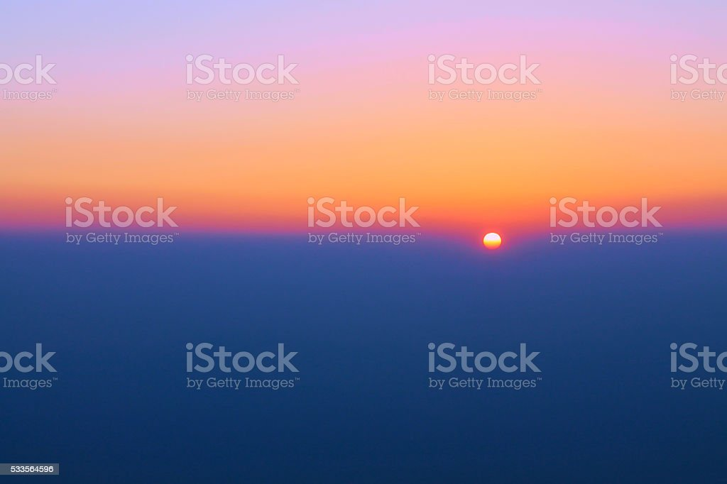 Colorful sunset, twilight time in the eveing stock photo